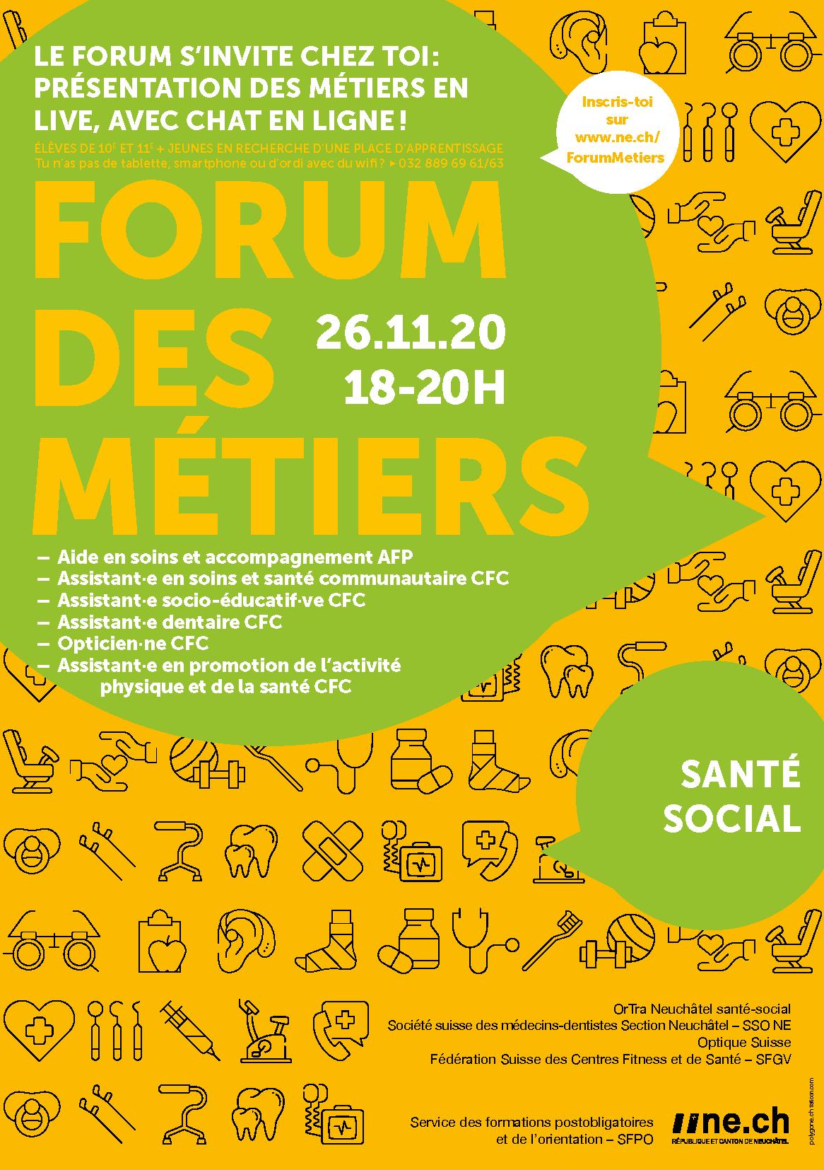 Forum des Métiers - République et canton de Neuchâtel